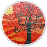 Ambient Bliss Round Beach Towel