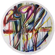 Ambigious Monster Round Beach Towel