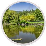 Round Beach Towel featuring the photograph Ambleside Park by Ross G Strachan
