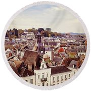 Round Beach Towel featuring the photograph Amboise, France by Melanie Alexandra Price