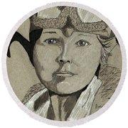 Amelia Earhart Round Beach Towel