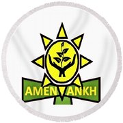 Amen Ankh Round Beach Towel