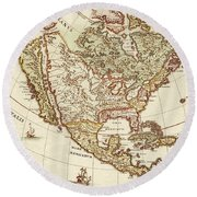 America Borealis 1699 Round Beach Towel