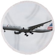 American Airlines Airbus A330 Round Beach Towel