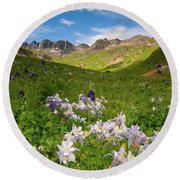 American Basin Round Beach Towel