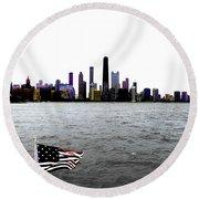 American Chi 3 Round Beach Towel