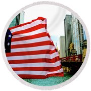 American Chi Round Beach Towel