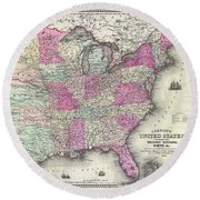 American Civil War Military Stations And Forts Round Beach Towel