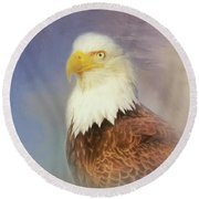 American Eagle Round Beach Towel by Steven Richardson