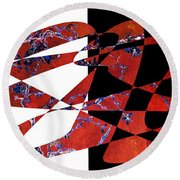 American Intellectual 6 Round Beach Towel by David Bridburg