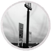 Round Beach Towel featuring the photograph American Interstate - Illinois I-55 by Frank Romeo