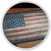 Round Beach Towel featuring the photograph American Leather by Christopher McKenzie