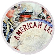 American Legion Round Beach Towel