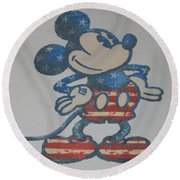 American Mouse Round Beach Towel