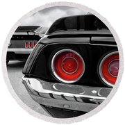 American Muscle Round Beach Towel