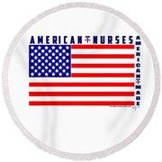 American Nurses Round Beach Towel