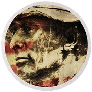 American Patriot Round Beach Towel