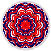 Kaleidoscope 5555 Round Beach Towel