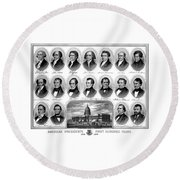 American Presidents First Hundred Years Round Beach Towel by War Is Hell Store