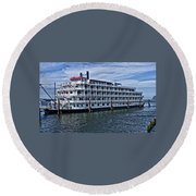 Round Beach Towel featuring the photograph American Pride by Thom Zehrfeld