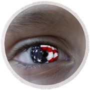 American Proud - Stars And Stripes Forever Round Beach Towel
