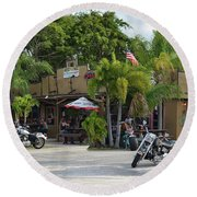 Round Beach Towel featuring the photograph American Roadhouse by Laura Fasulo