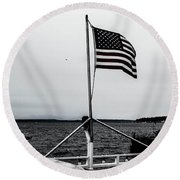 American Seattle Round Beach Towel