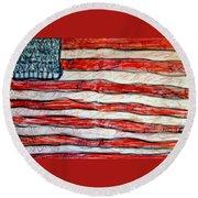 American Social Round Beach Towel