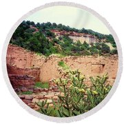 American Southwest II Round Beach Towel by Desiree Paquette