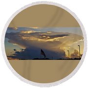 American Supercell Round Beach Towel