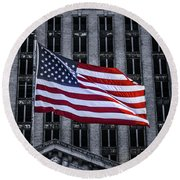 American The Beautiful  Round Beach Towel