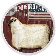American Wool Round Beach Towel