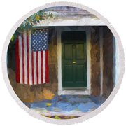 Americana Series 14 Round Beach Towel