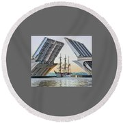 America's Tall Ship Round Beach Towel