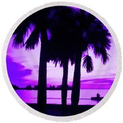 Round Beach Towel featuring the photograph Amethyst Beach Sunset by Aimee L Maher Photography and Art Visit ALMGallerydotcom