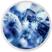 Round Beach Towel featuring the photograph Amethyst Blue by Sharon Mau