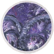 Round Beach Towel featuring the painting Amethyst Is The Color Of Your Energy by Ania M Milo
