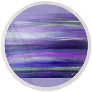 Amethyst Mirage  Round Beach Towel