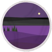 Amethyst Night Round Beach Towel