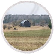 Amish Country 0754 Round Beach Towel by Michael Peychich