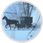 Amish Dreamscape Round Beach Towel