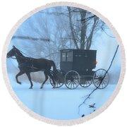 Amish Dreamscape Round Beach Towel