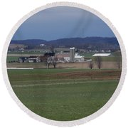Amish Homestead 125 Round Beach Towel