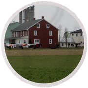 Amish Homestead 7 Round Beach Towel