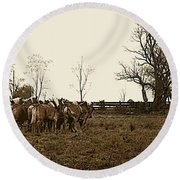 Amish Ways Round Beach Towel