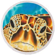 Amitie Sea Turtle Round Beach Towel