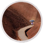 Among The Painted Hills Round Beach Towel