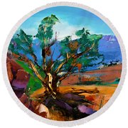 Among The Red Rocks - Sedona Round Beach Towel