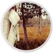 Among The Tall Grass Round Beach Towel