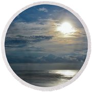 Amore And Moonlight Round Beach Towel